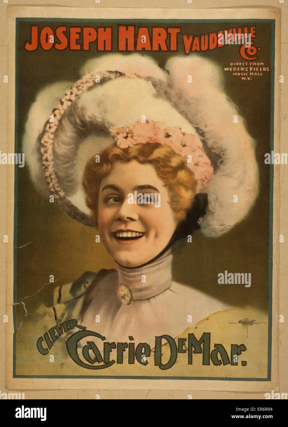 Joseph Hart Vaudeville Co. direct from Weber & Fields Music Hall, N.Y. Date c1899. - Stock Image