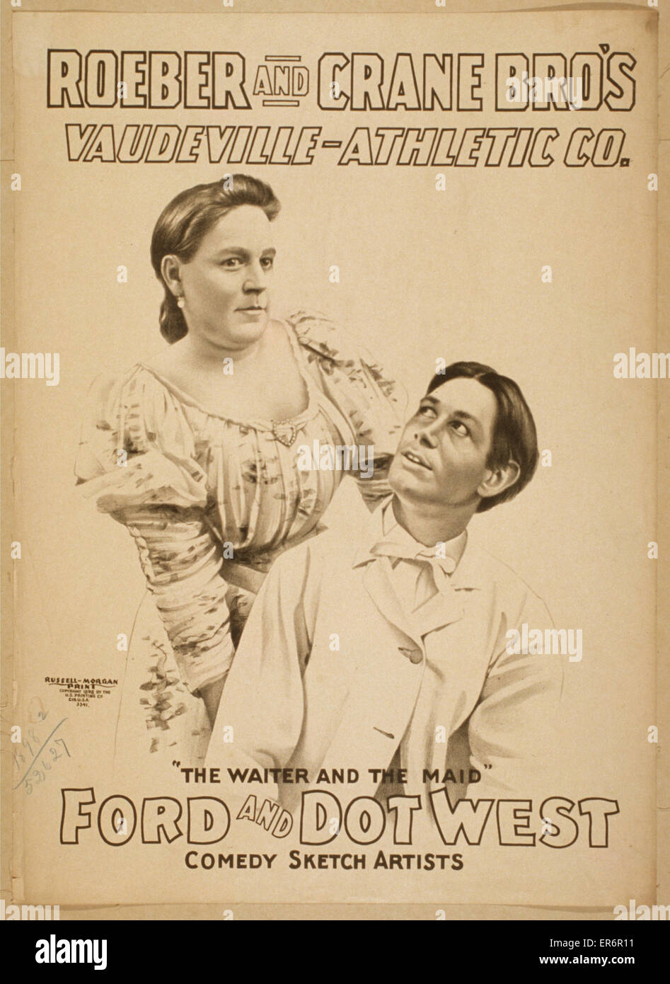 Roeber and Crane Bro's Vaudeville-Athletic Co. Date c1898. Stock Photo