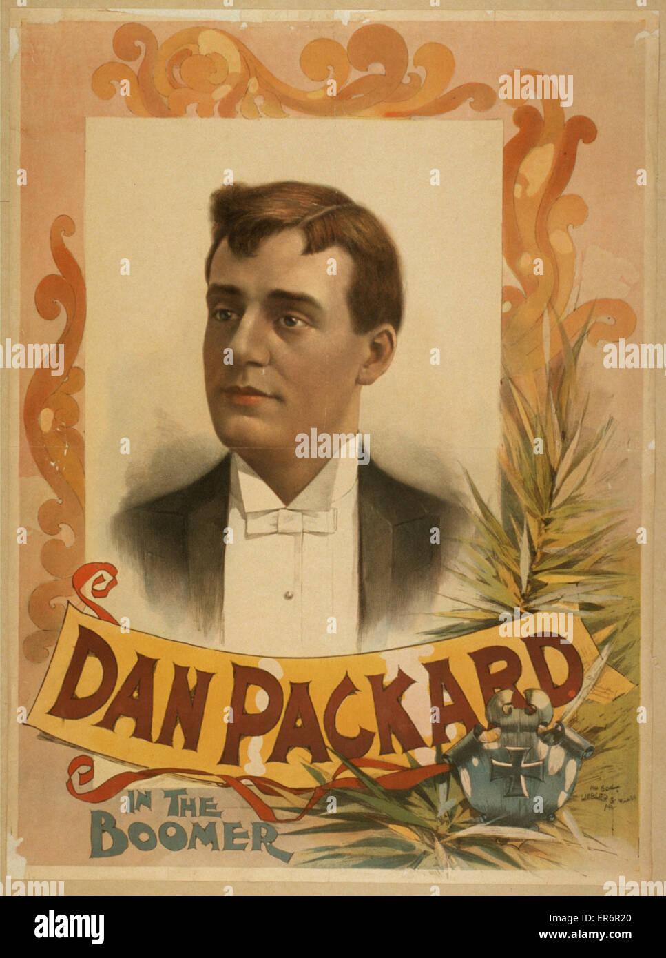Dan Packard in The boomer. Date 189-?. - Stock Image