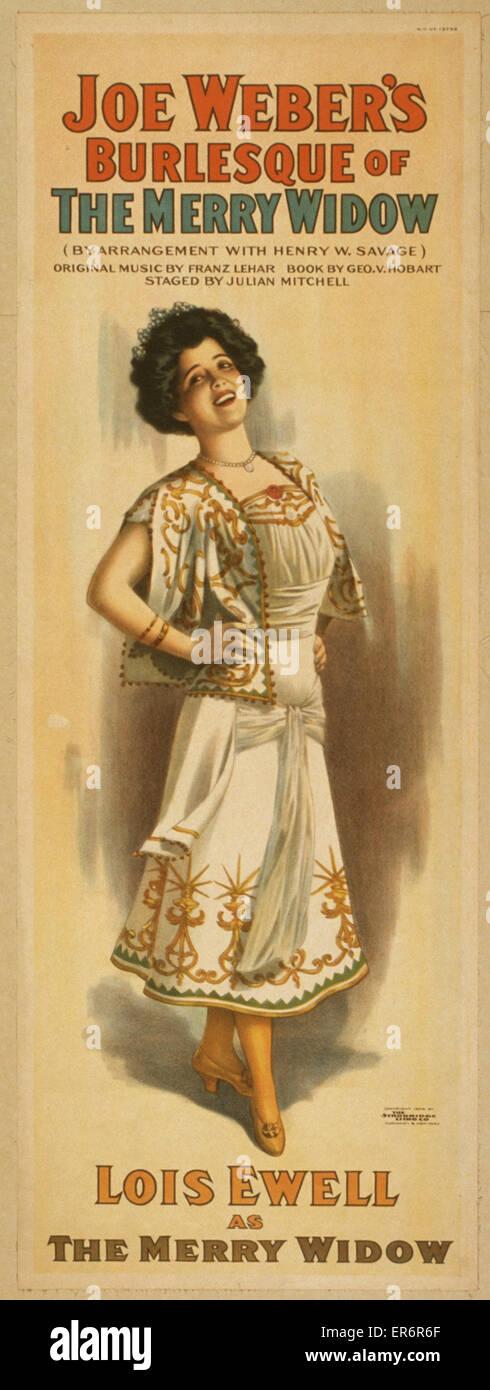 Joe Webers Burlesque Of The Merry Widow By Arrangement With Henry W Savage Original