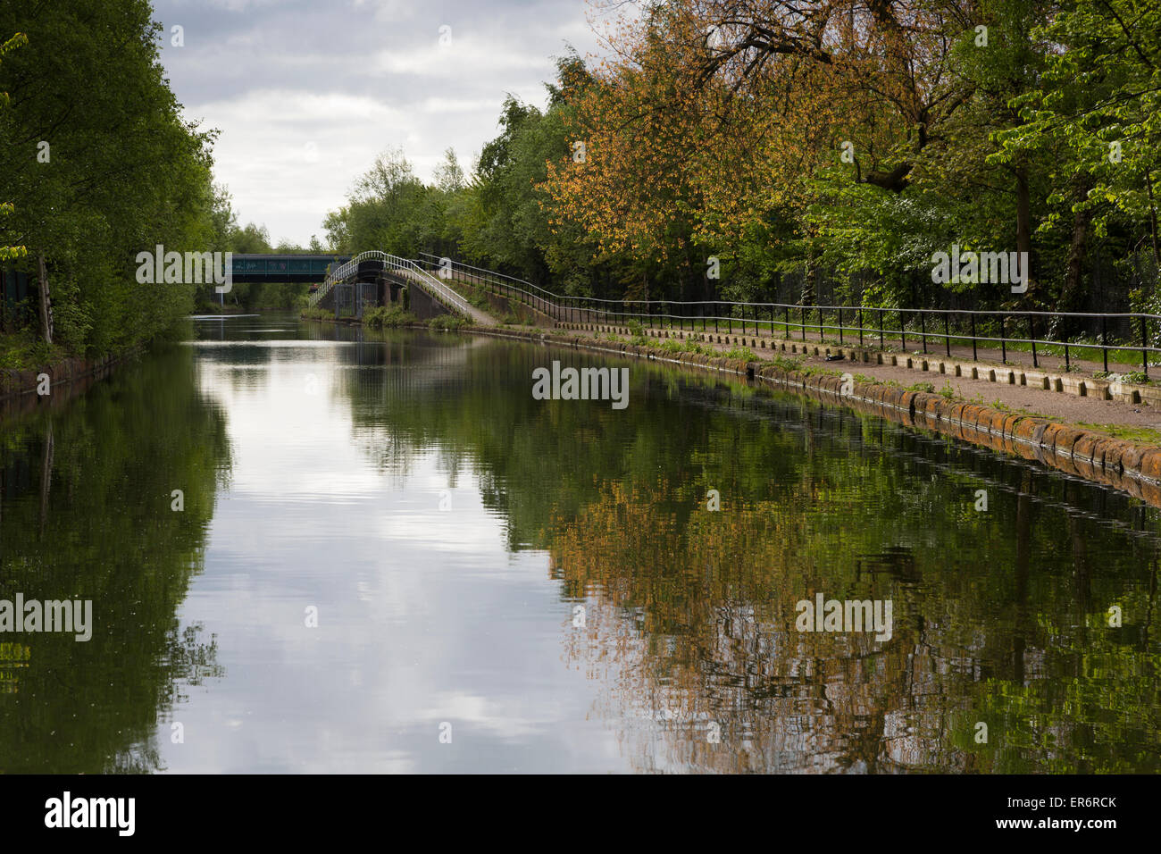 The Bridgewater Canal at Barton, Manchester - Stock Image