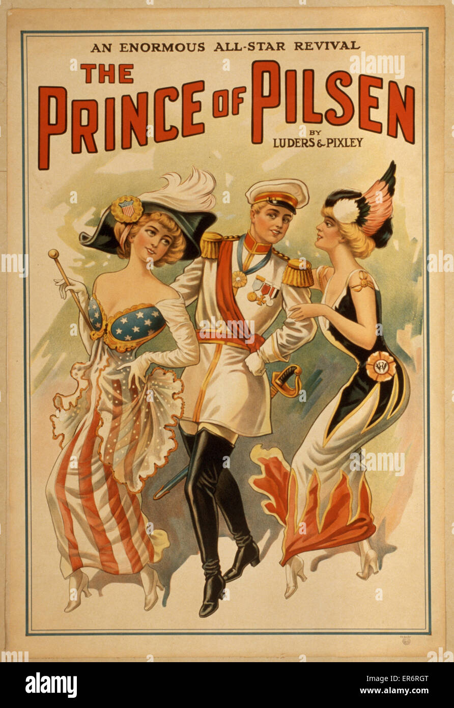 The Prince of Pilsen by Luders & Pixley : an enormous all-star revival. Date 19 - ?. - Stock Image