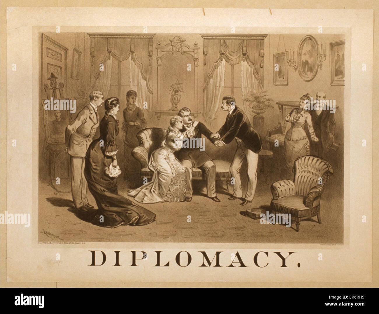 Diplomacy. Date c1878. - Stock Image