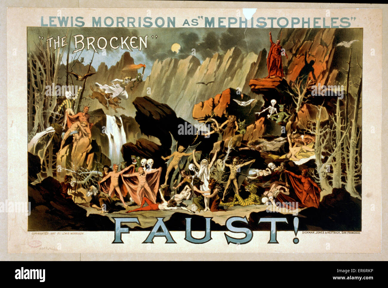 Faust posters poster - Stock Image