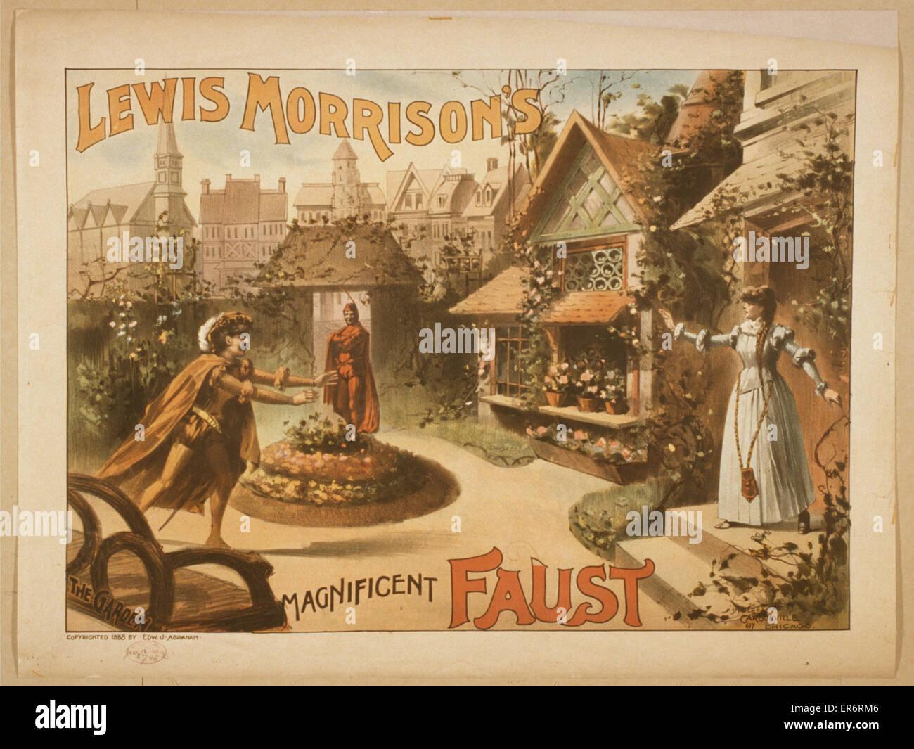 Lewis Morrison's magnificent Faust. Date c1888. - Stock Image