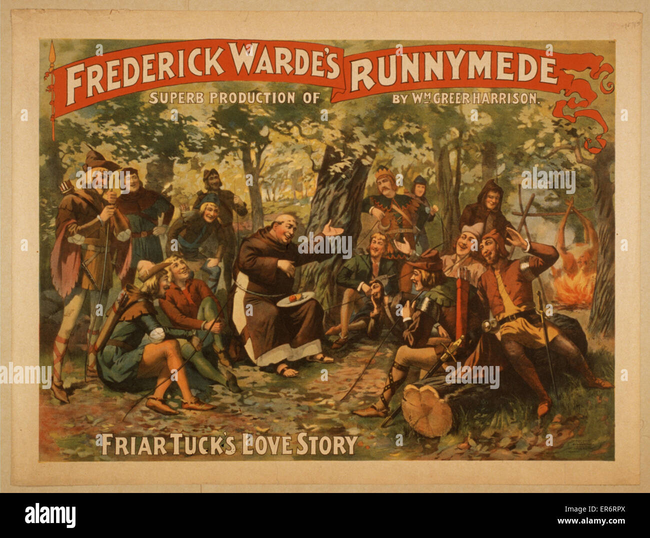 Frederick Warde's superb production of Runnymede by Wm. Greer Harrison. Date c1895. - Stock Image