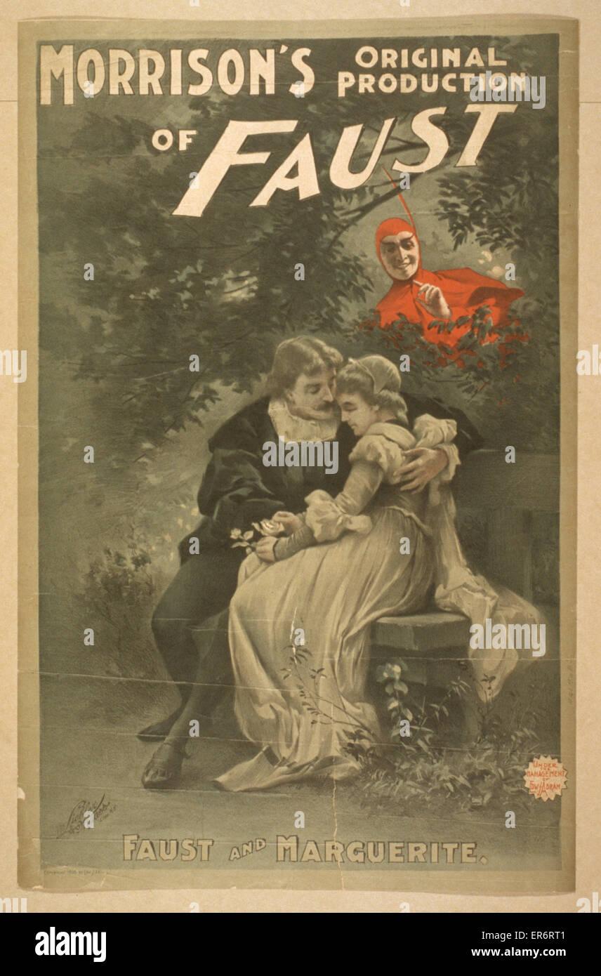 Morrison's original production of Faust. Date c1896. - Stock Image