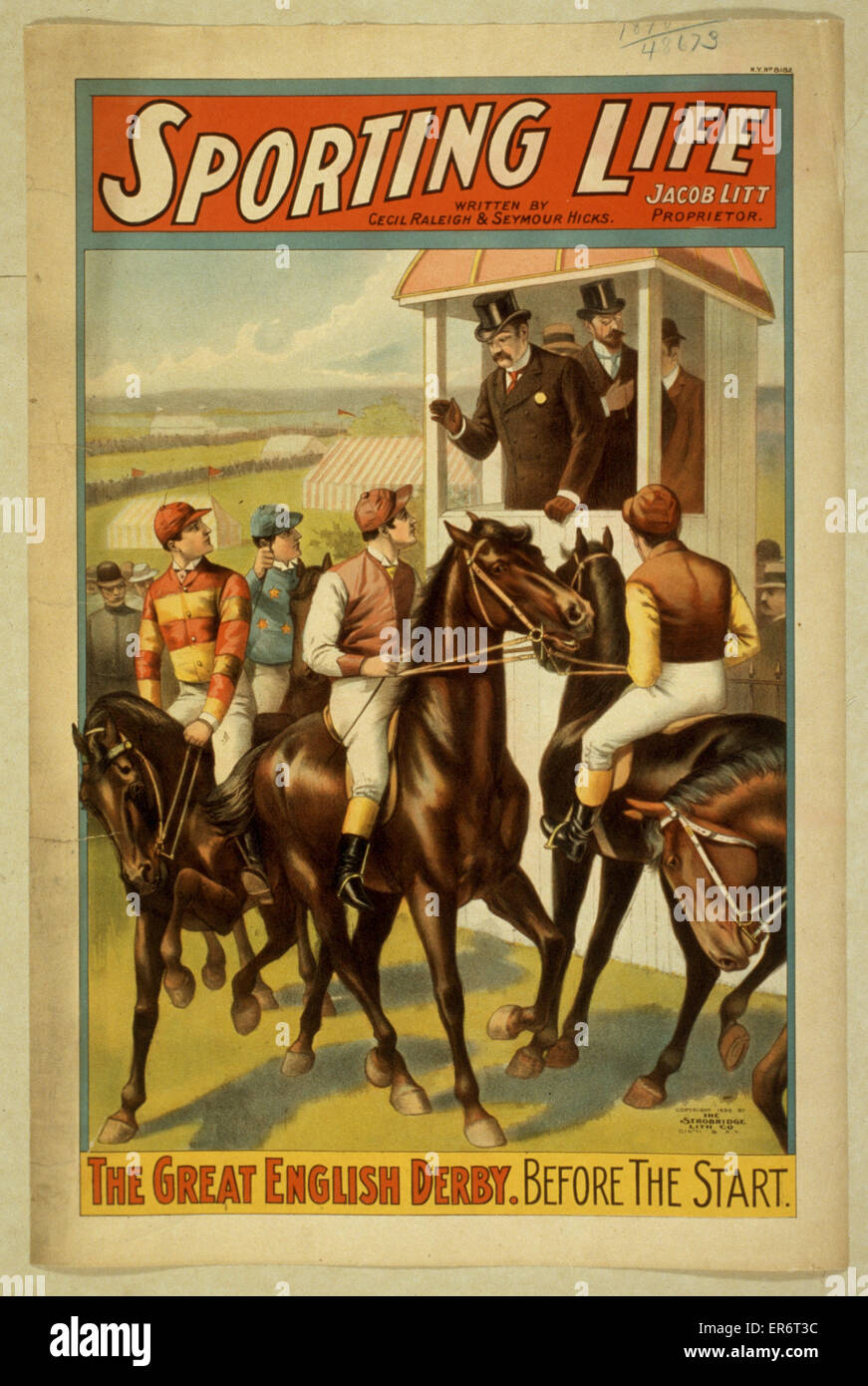 Sporting life written by Cecil Raleigh & Seymour Hicks. Date c1898. - Stock Image