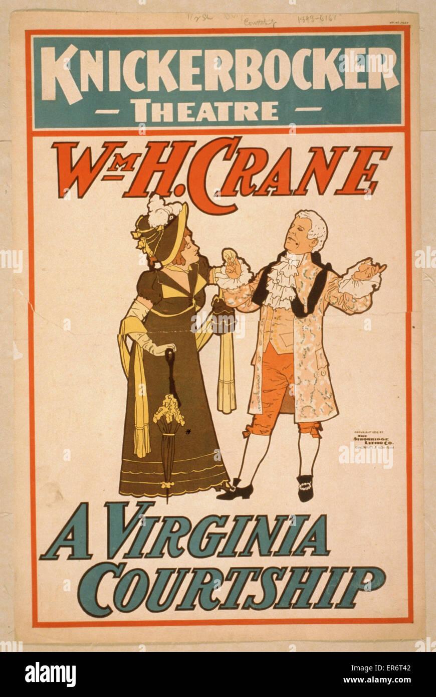 Wm. H. Crane. A Virginia courtship. Date c1898. - Stock Image