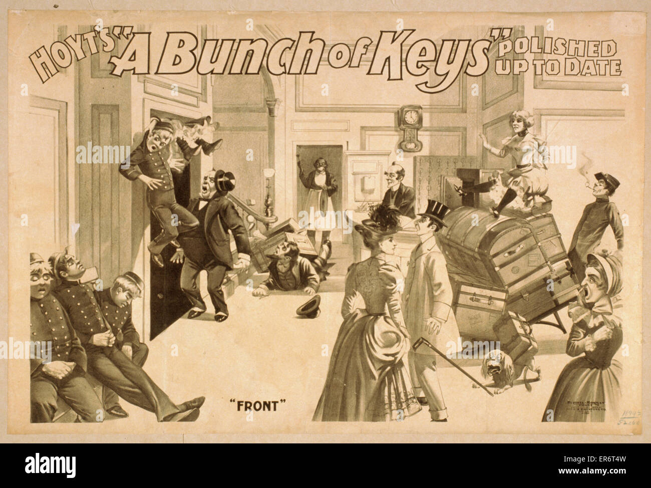 Hoyt's A bunch of keys polished up to date. Date c1899. - Stock Image