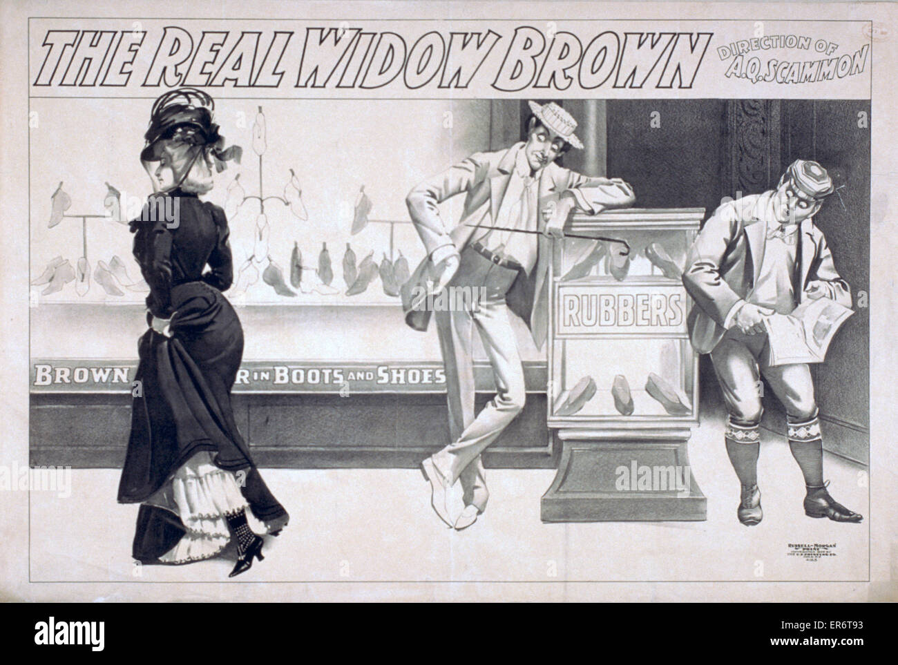 The real Widow Brown. Date c1899. - Stock Image