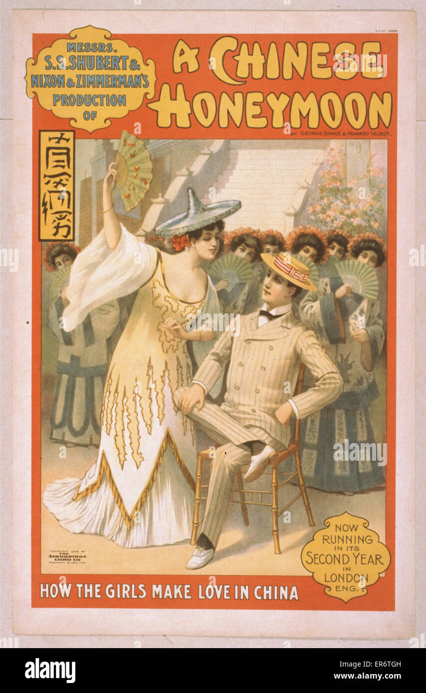 Messrs. SS Shubert & Nixon & Zimmerman's production of A Chinese honeymoon by George Dance & - Stock Image