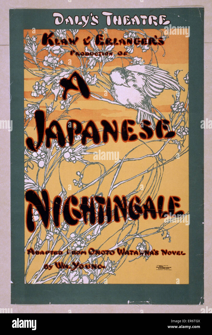 Klaw & Erlanger's production of A Japanese nightingale adapted from Onoto Watanna's novel by Wm. - Stock Image