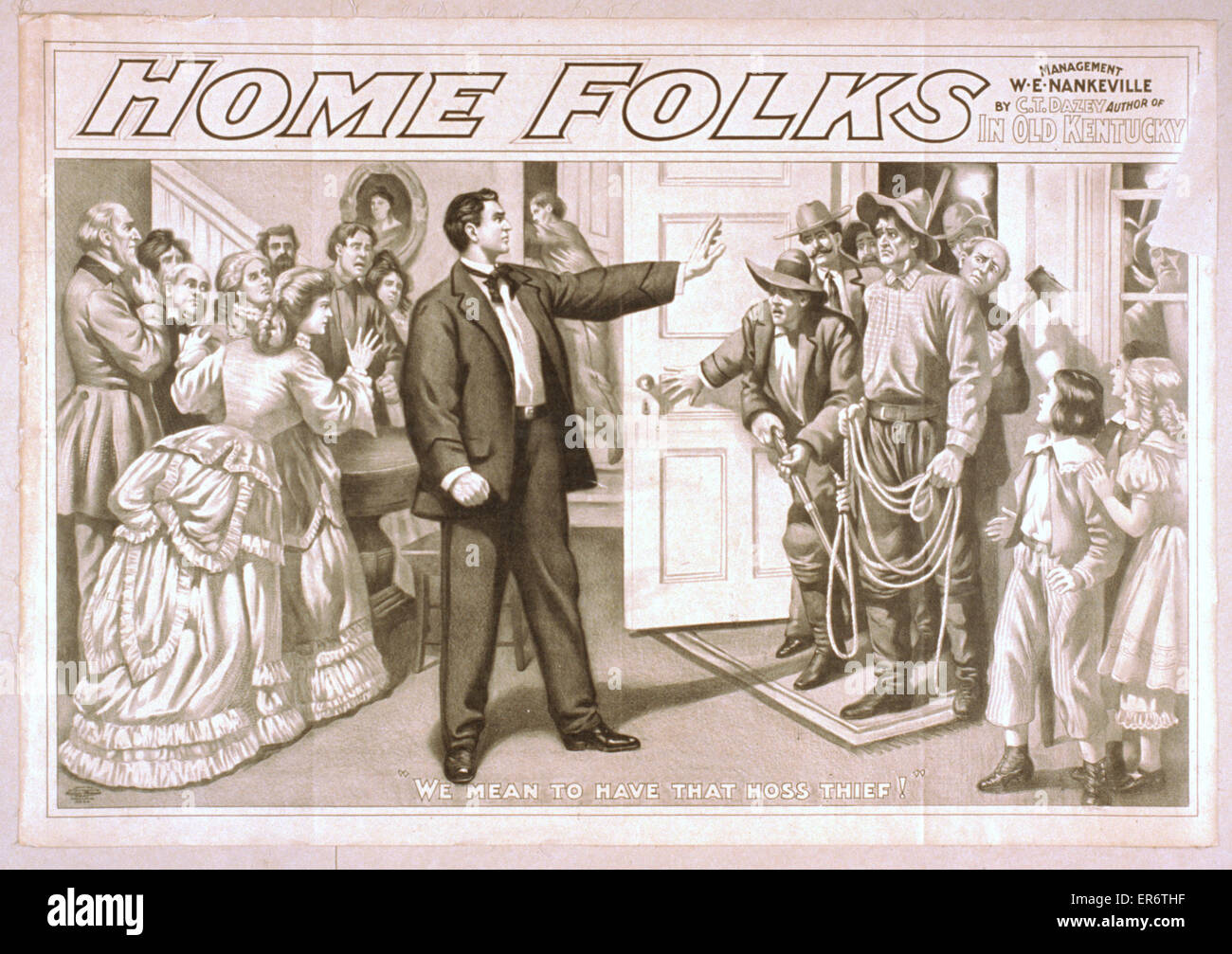 Home folks by CT Dazey, author of In old Kentucky. Date c1906. - Stock Image