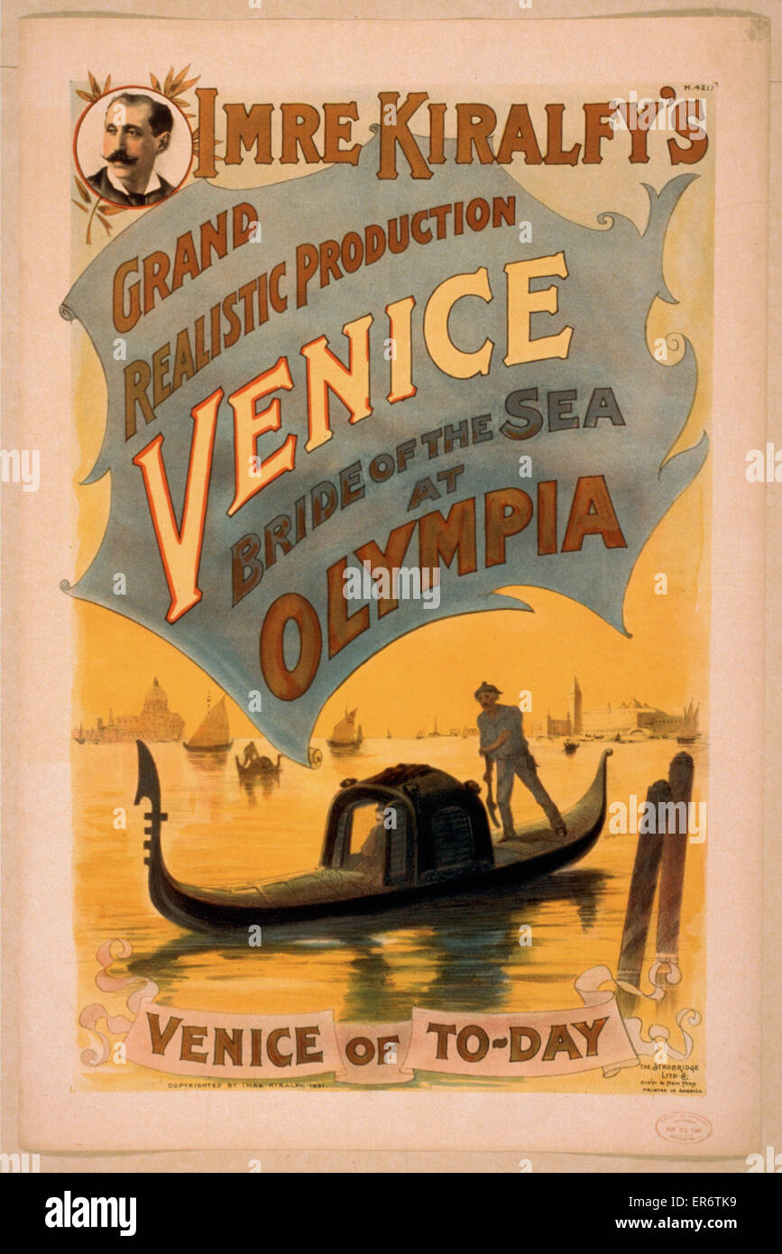 Imre Kiralfy's grand realistic production, Venice, bride of the sea at Olympia. Date c1891. - Stock Image