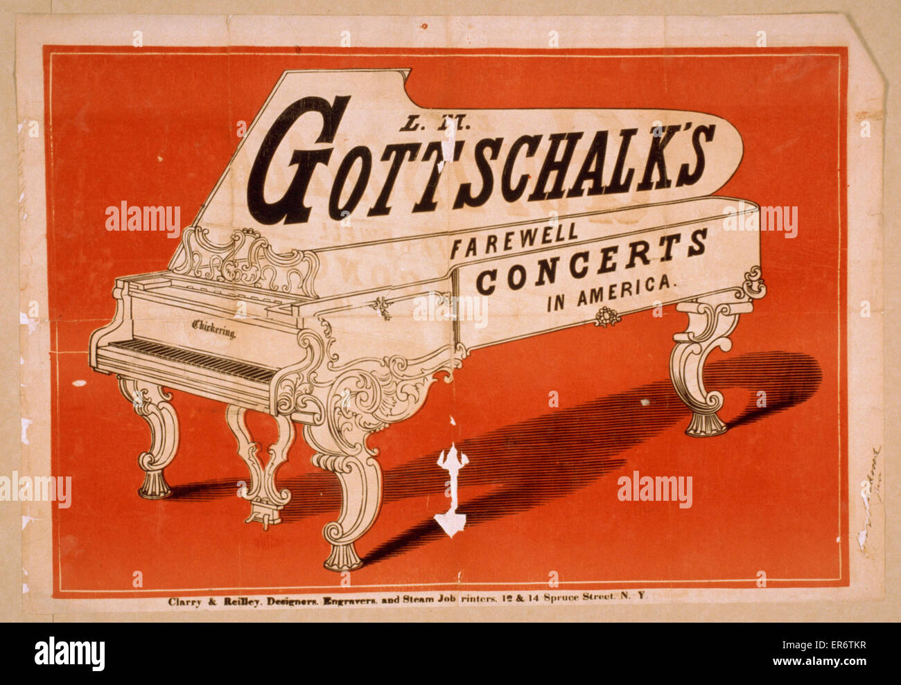 LM Gottschalk's farewell concerts in America. Date 186-?. - Stock Image