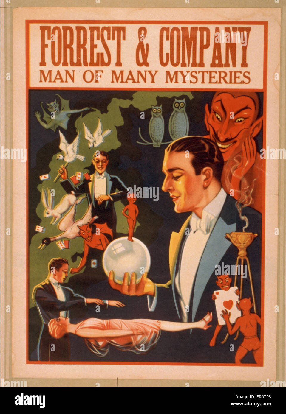 Forrest & Company man of many mysteries. Date 19 - ?. - Stock Image