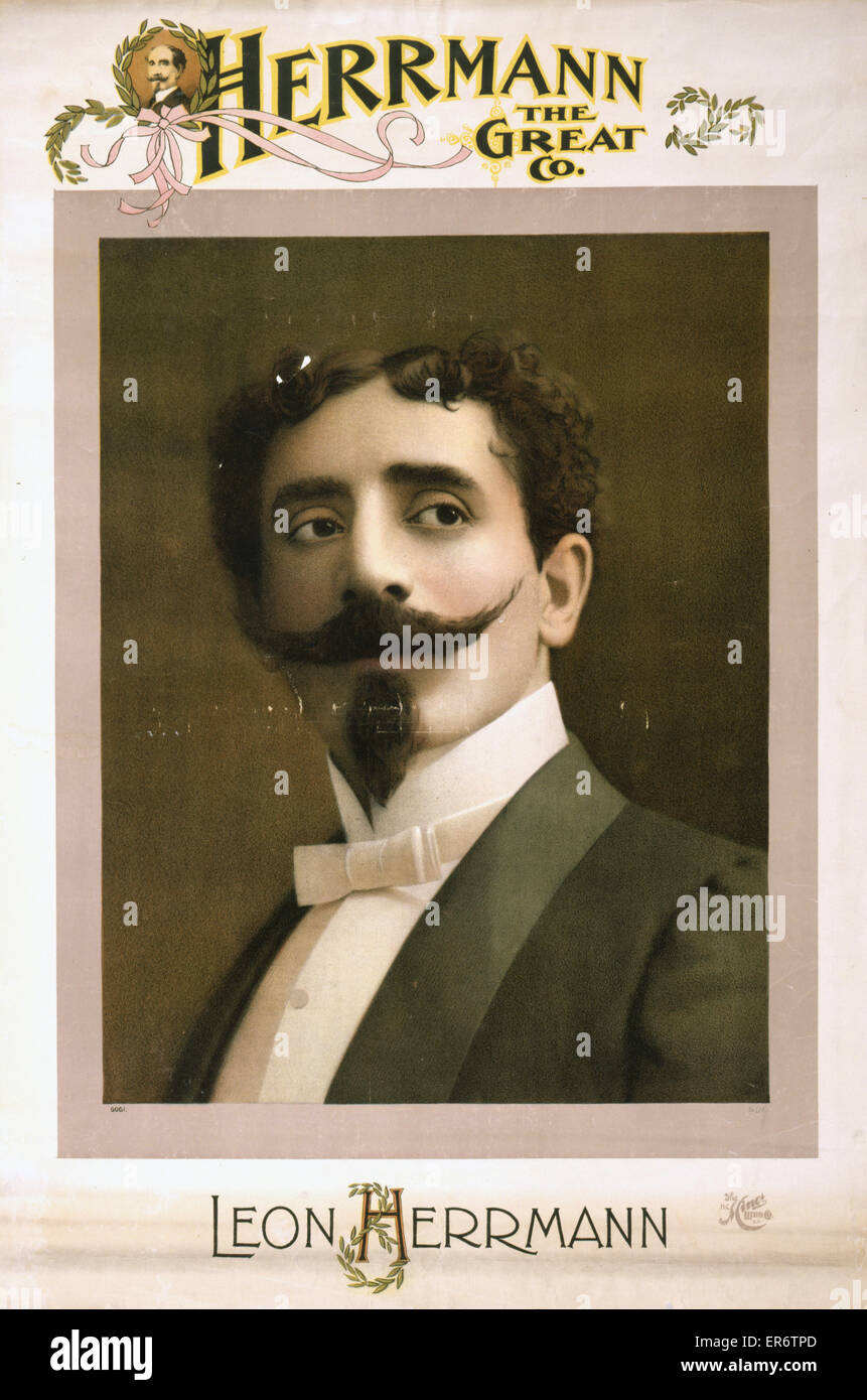 Herrmann the Great Co. Date c1898. - Stock Image