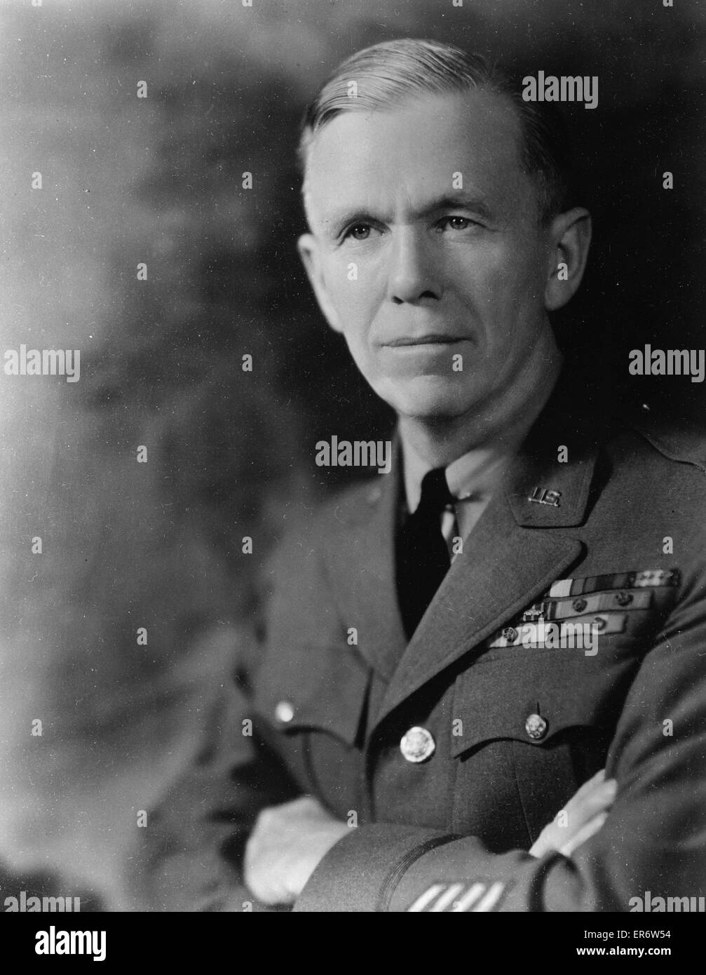 General George C. Marshall, chief of staff. Date 1940 Aug. - Stock Image