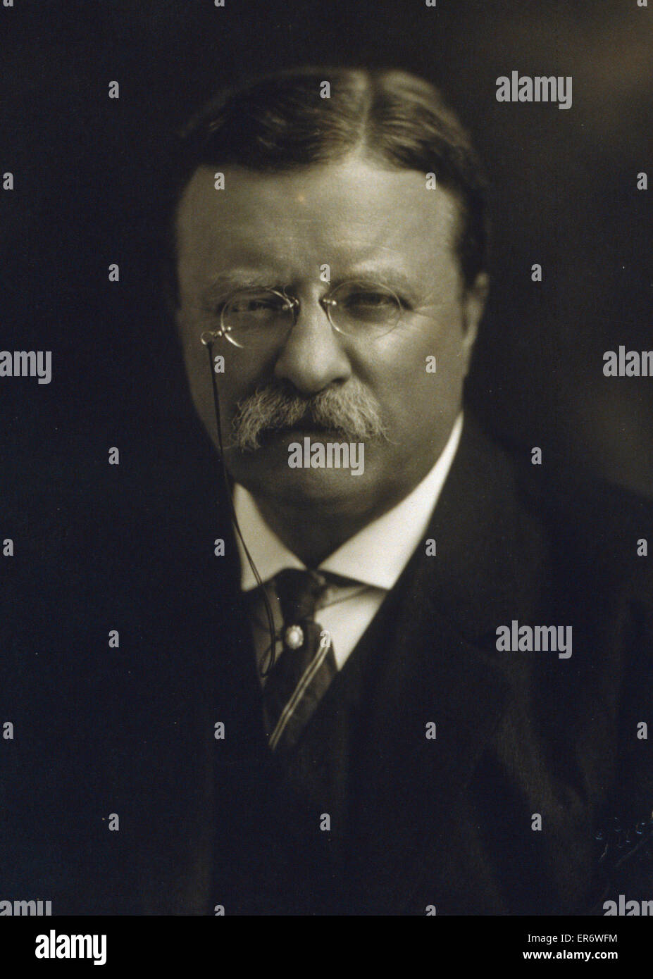 Theodore Teddy Roosevelt, American President, portrait 15th August 1913 - Stock Image