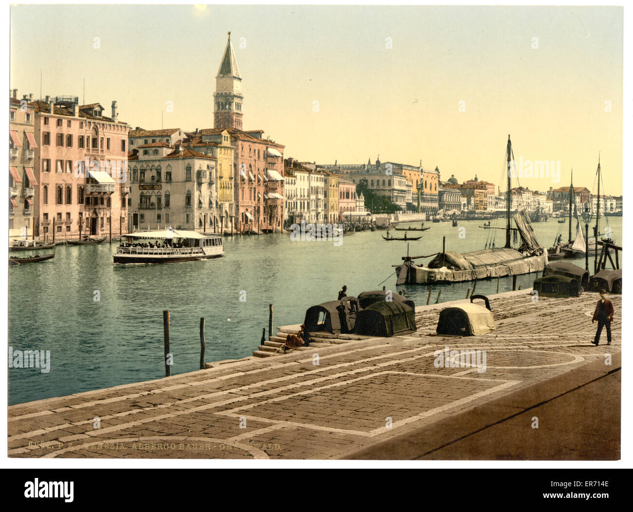 Hotel Bauer Grunewald, Venice, Italy. Date between ca. 1890 and ca. 1900. - Stock Image
