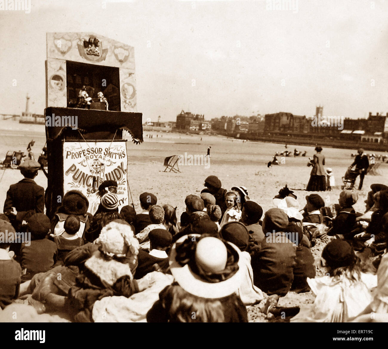 Professor Smith's Royal Punch and Judy show Victorian period - Stock Image