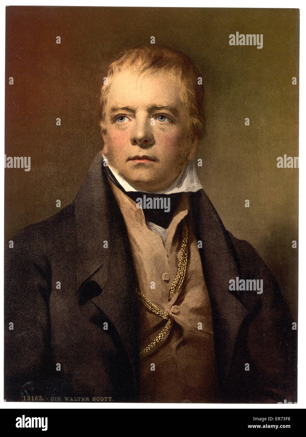 Portrait of Sir Walter Scott - Stock Image