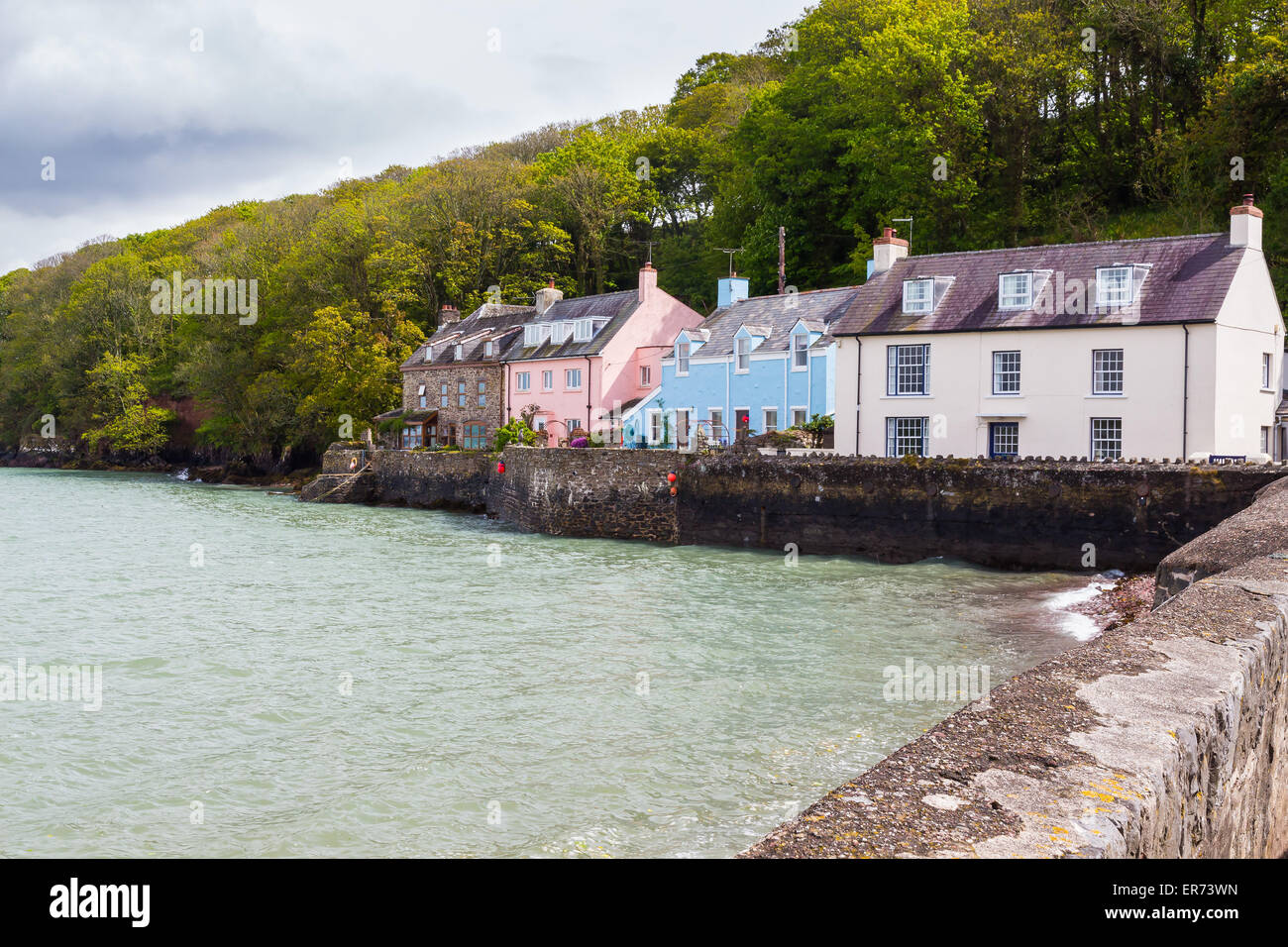 Dale is a small village  on the Pembrokeshire coast of West Wales UK Europe - Stock Image