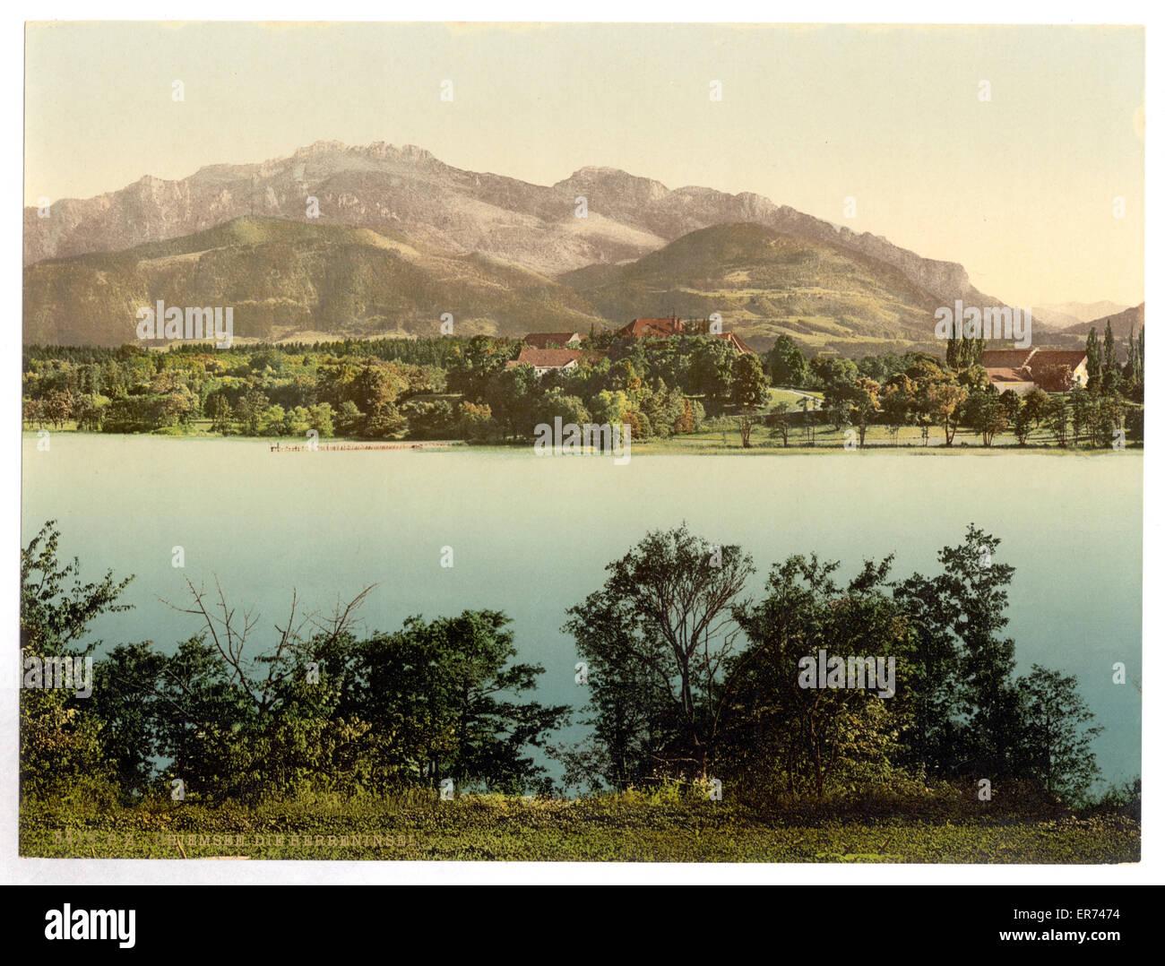 Herreninsel, Chiemsee, Upper Bavaria, Germany. Date between ca. 1890 and ca. 1900. - Stock Image