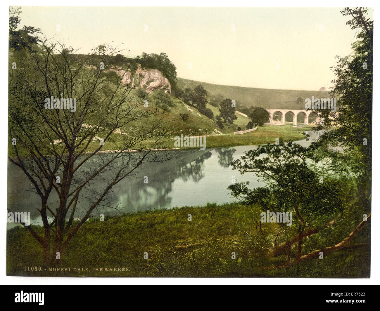 Monsal Dale, the Warren, Derbyshire, England. Date between ca. 1890 and ca. 1900. - Stock Image