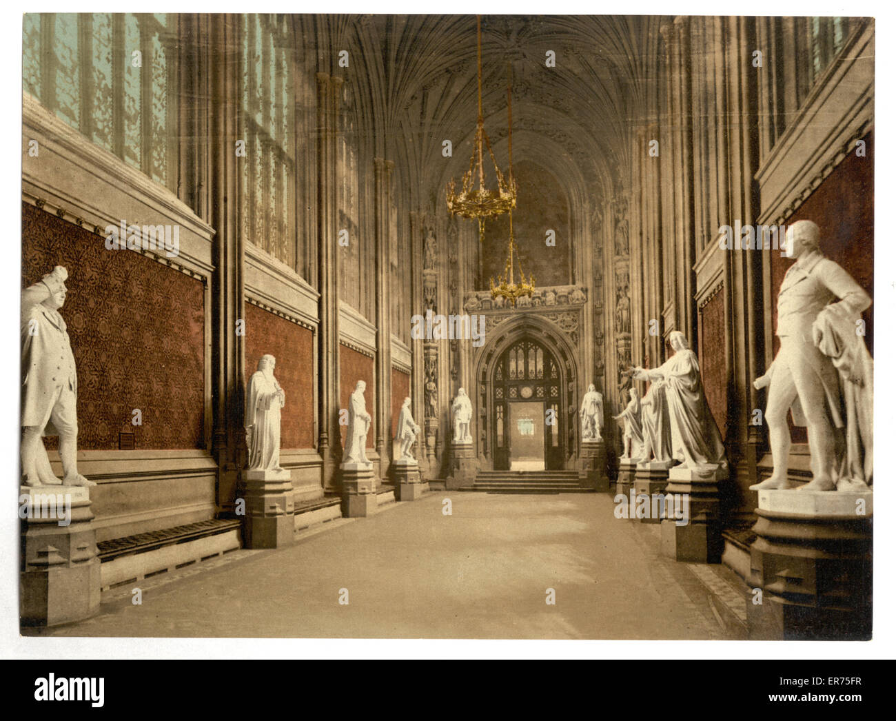 Merveilleux Houses Of Parliament, St. Stephenu0027s Hall (Interior), London, England. Date  Between Ca. 1890 And Ca. 1900.