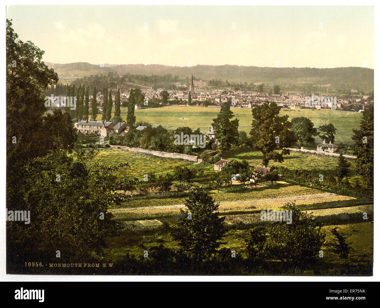 From S. W., Monmouth, England. Date between ca. 1890 and ca. 1900. - Stock Image
