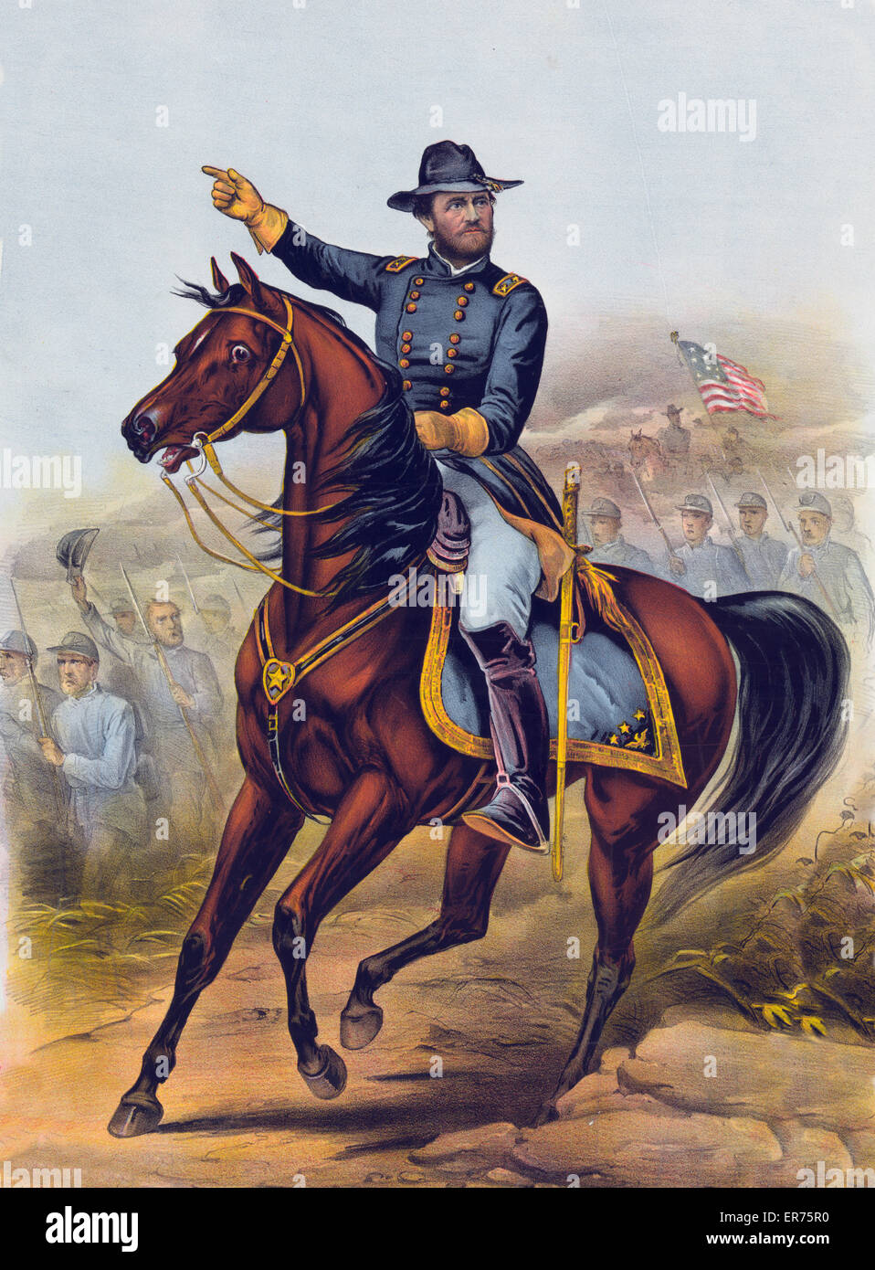 To the grand Army of the Republic this print of our old commander General U.S. Grant is respectfully dedicated. - Stock Image