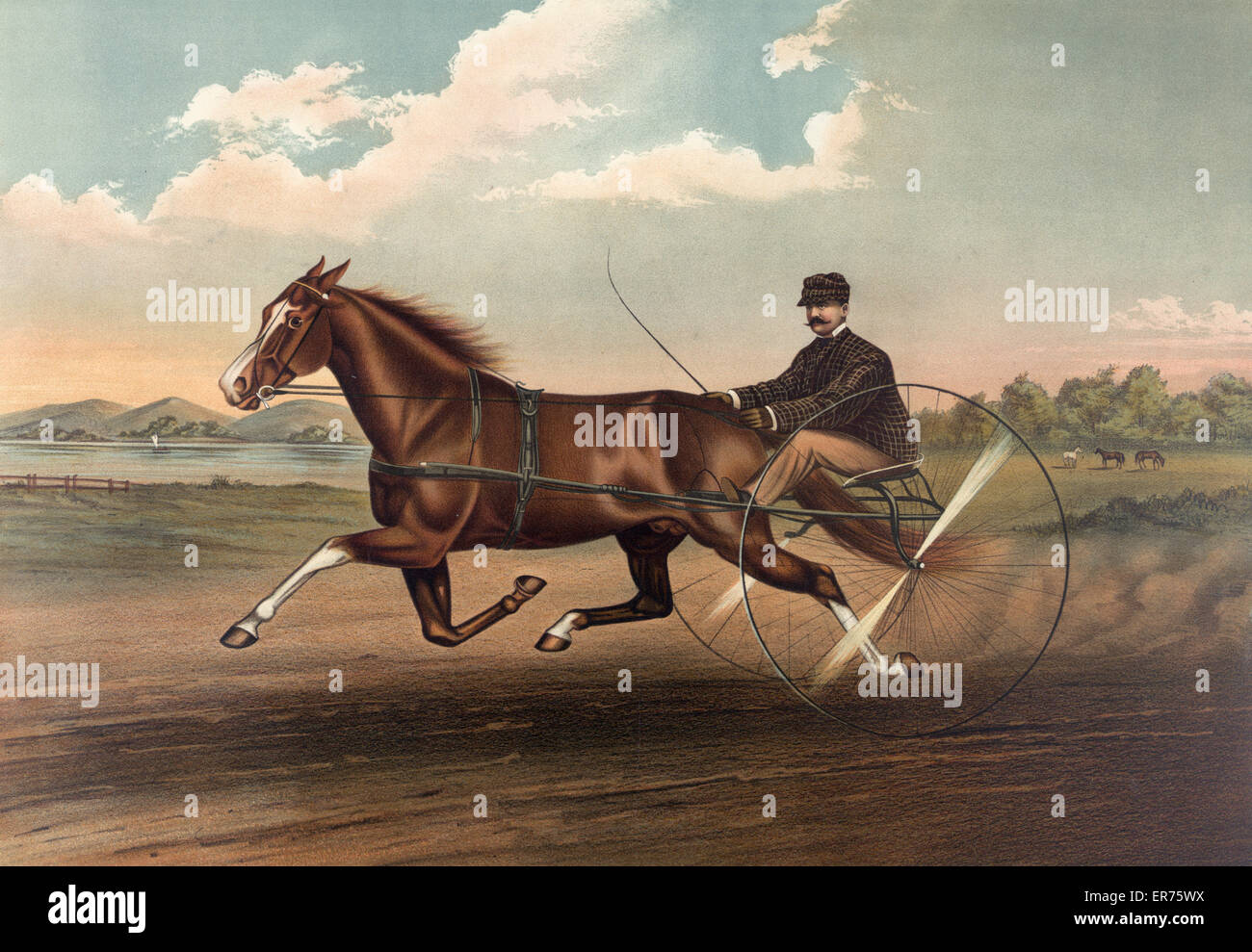 Young Fullerton, (3528): record 2:20 3/4. Date c1888. - Stock Image