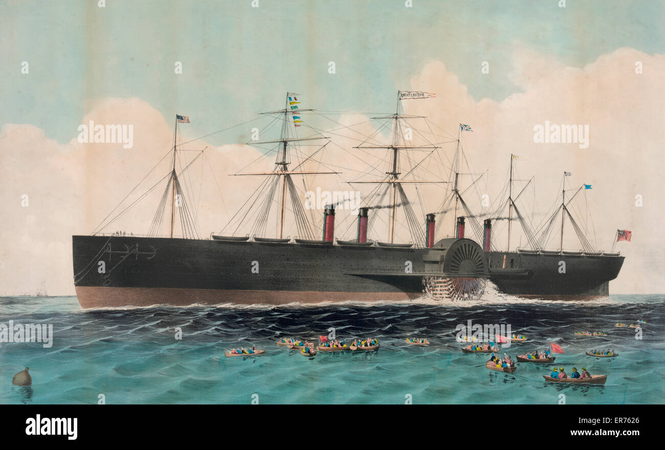The iron steam ship Great Eastern 22,500 tons: constructed under the direction of I.K. Brunel, F.R.S. -- D.C.L. - Stock Image