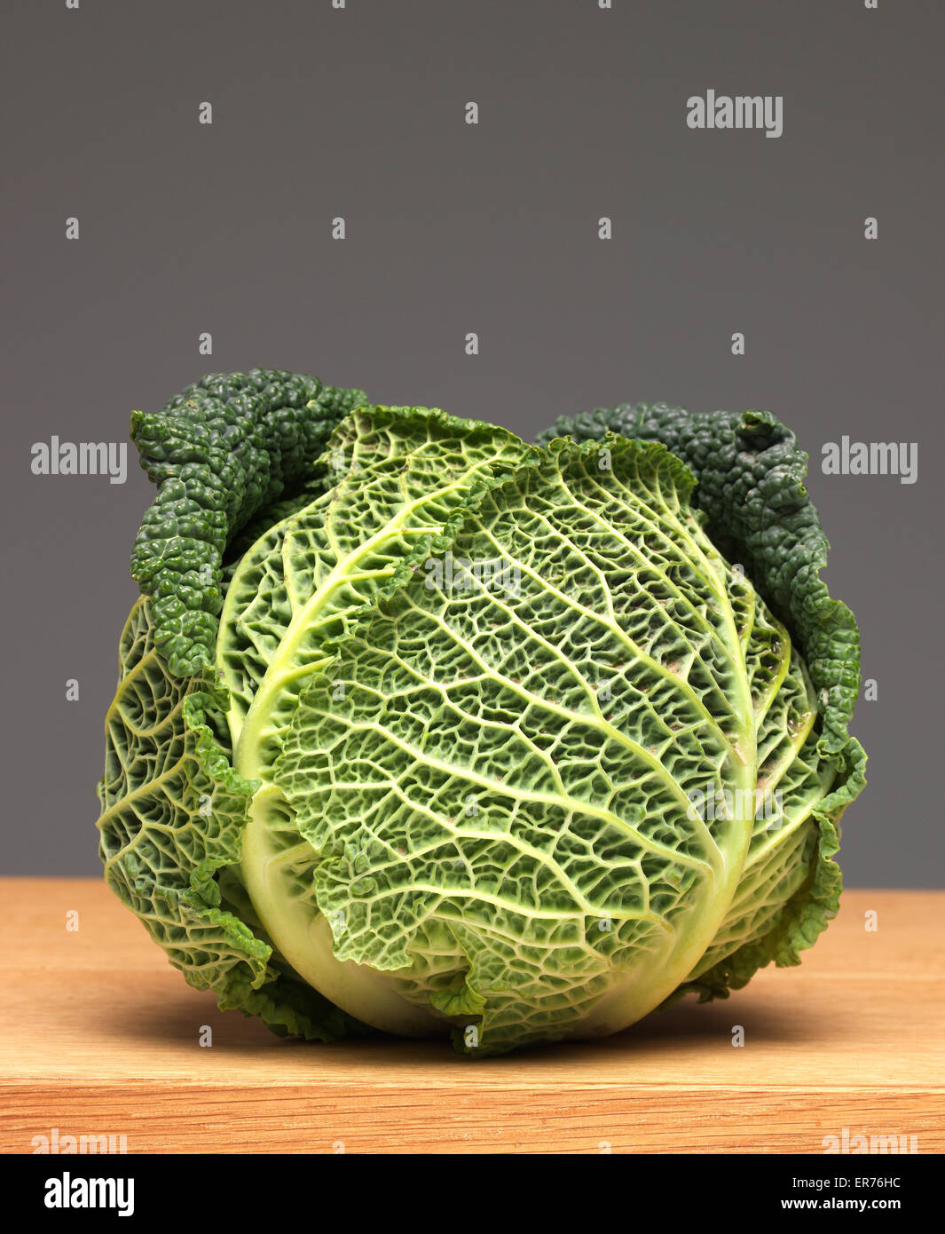 Cabbage on worktop - Stock Image