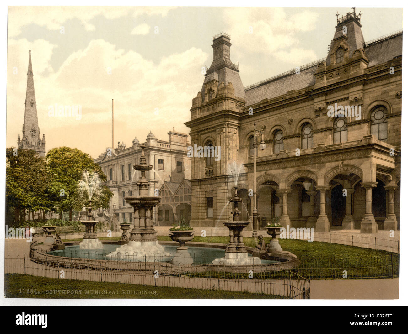 Municipal buildings, Southport, England. Date between ca. 1890 and ca. 1900. - Stock Image