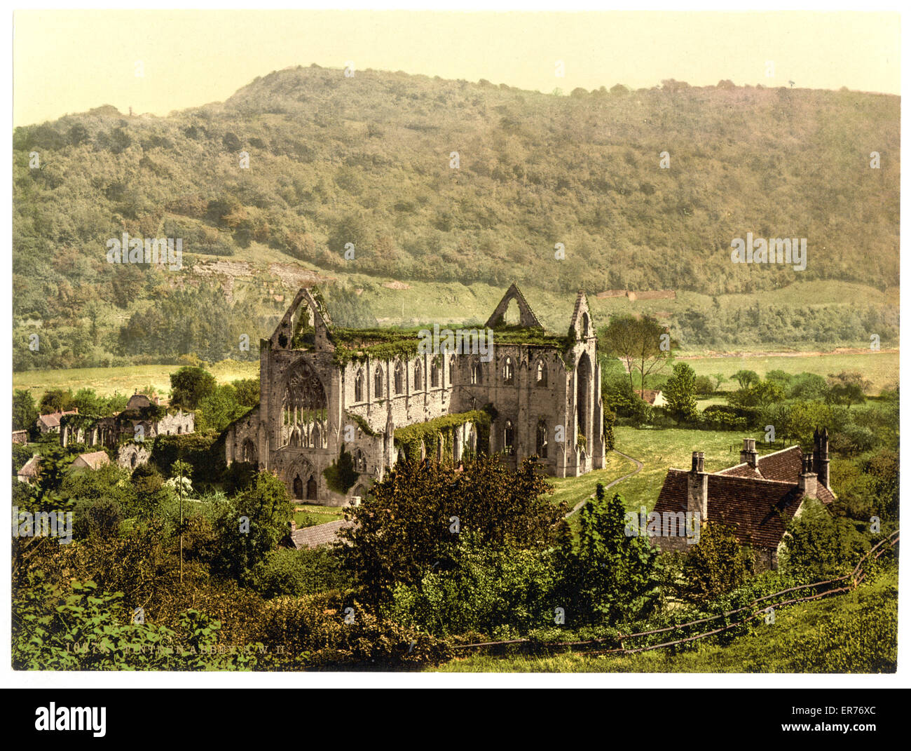 Abbey S. W., II., Tintern, England. Date between ca. 1890 and ca. 1900. - Stock Image