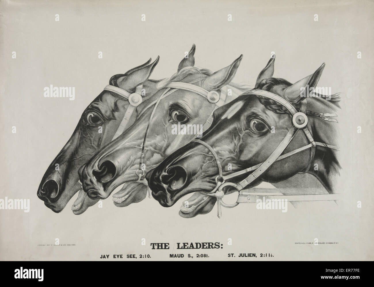 The leaders. Date c1888. - Stock Image