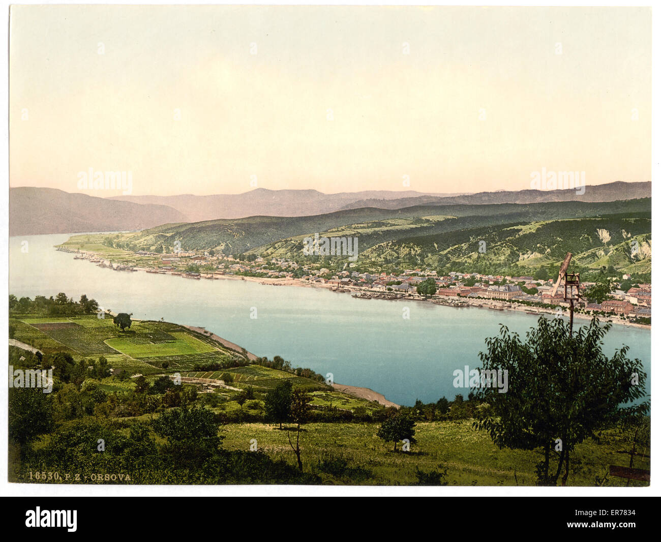 Orsova, Austro-Hungary. Date between ca. 1890 and ca. 1900. - Stock Image