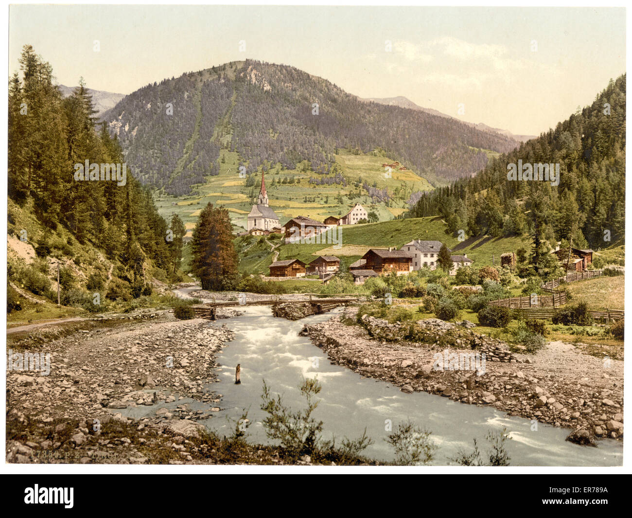 Kals, Tyrol, Austro-Hungary. Date between ca. 1890 and ca. 1900. - Stock Image
