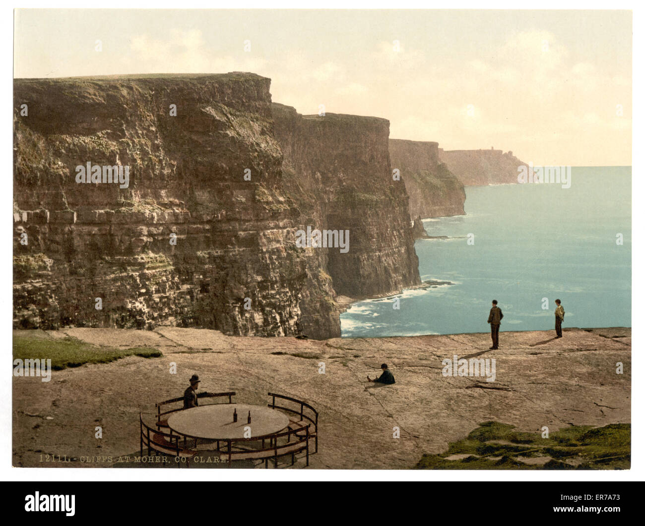 Cliffs at Moher. County Claire. (i.e. Clare), Ireland. Date between ca. 1890 and ca. 1900. - Stock Image