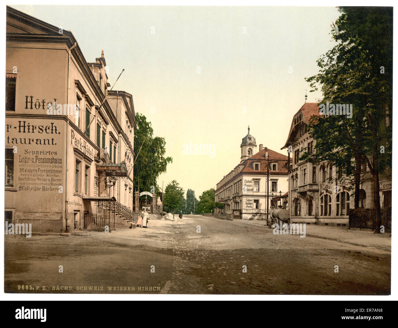 Weisser Hirsch, Saxony, Germany. Date between ca. 1890 and ca. 1900. - Stock Image