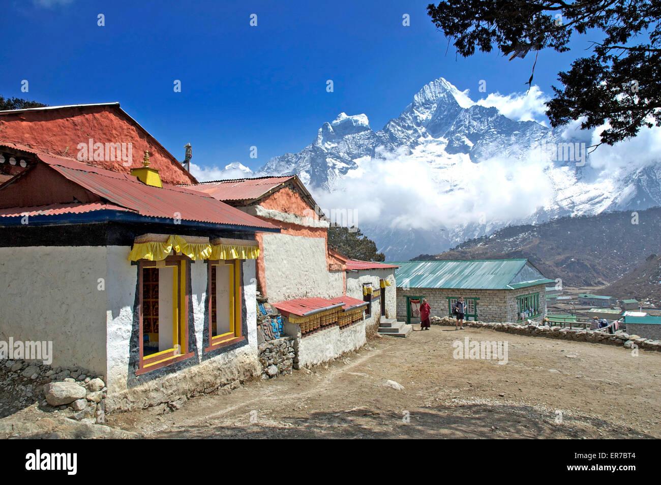 Khumjung Monastery, Khumjung, Nepal. - Stock Image