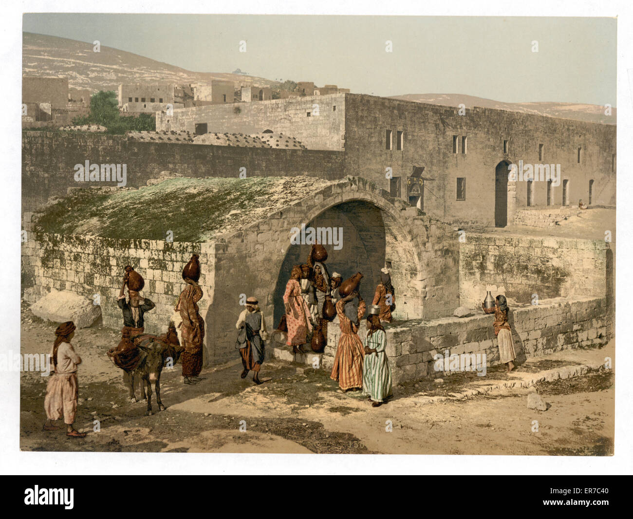 the virgin's fountain, nazareth, holy land, (i e  israel)  date between