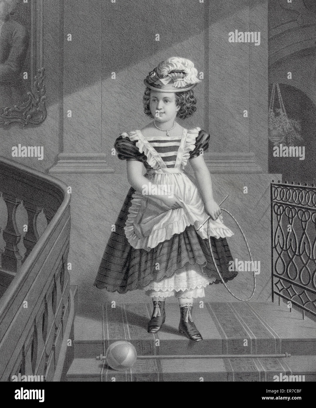 Bright and early. Date c1872. - Stock Image