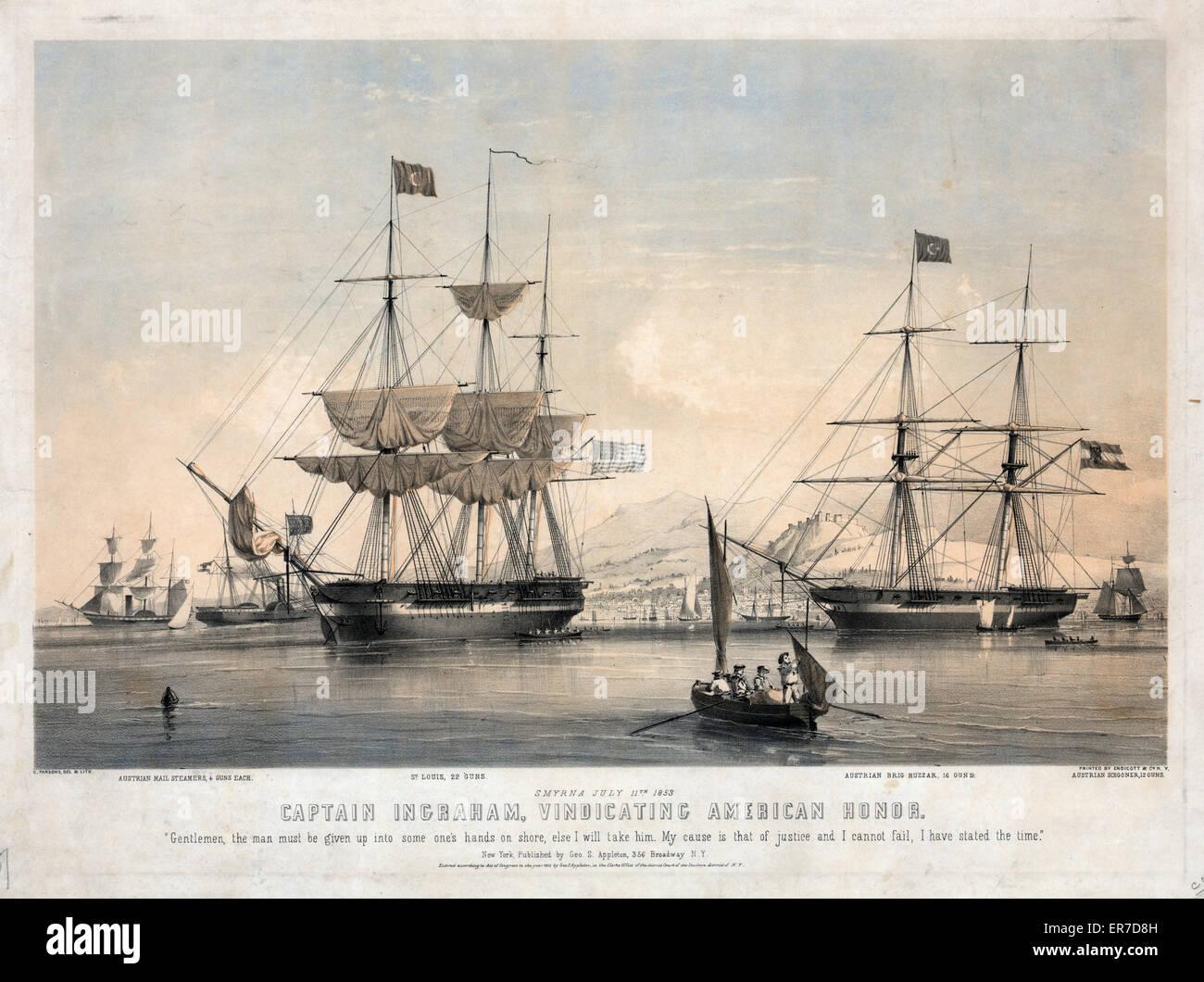 Captain Ingraham, vindicating American honor. - Stock Image