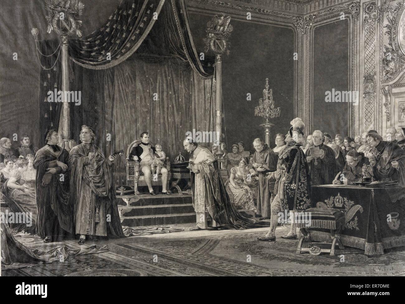 Le Roi de Rome Napoleon king of - Stock Image