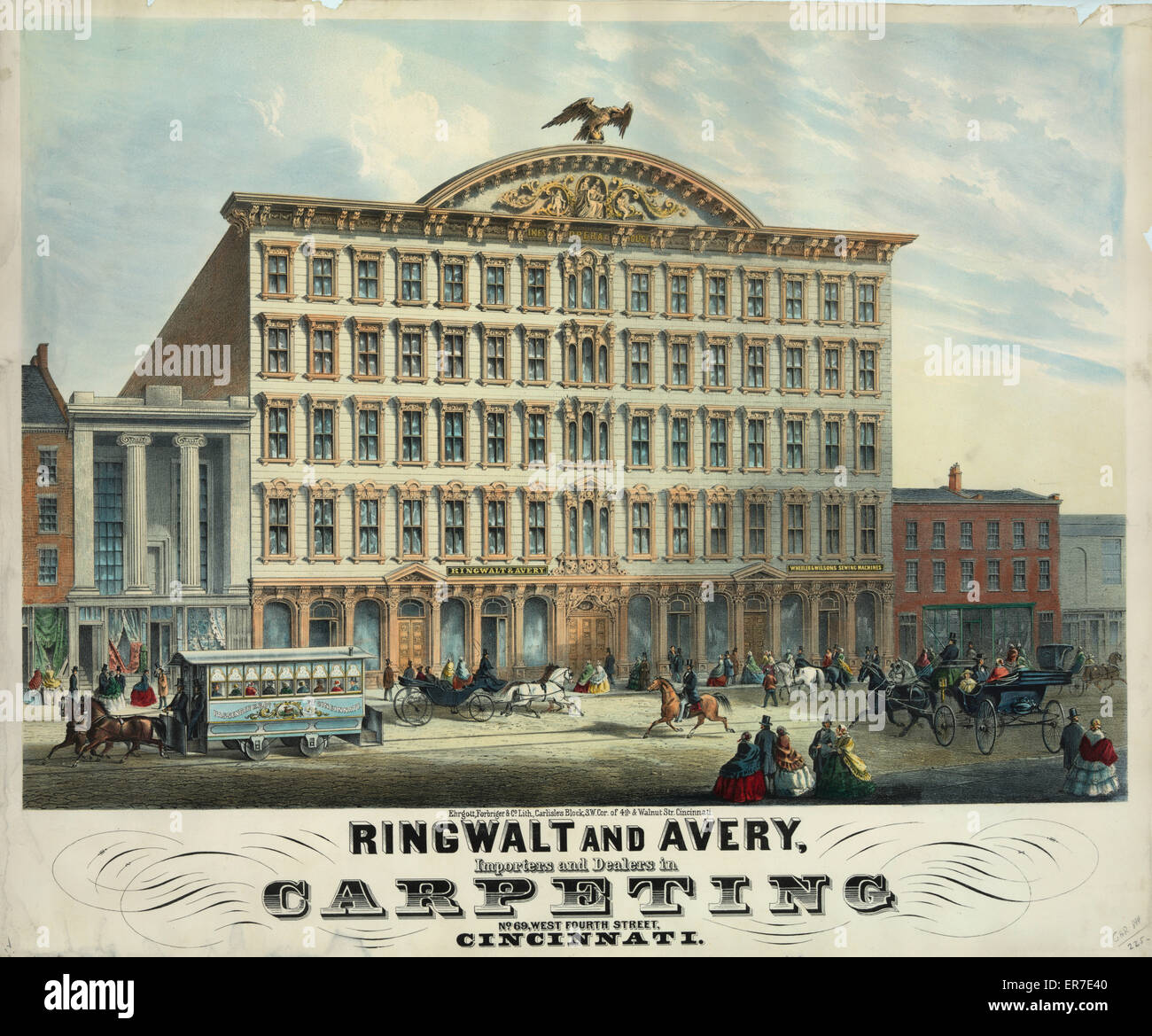 Ringwalt and Avery. Importers and Dealers in. Carperting. - Stock Image