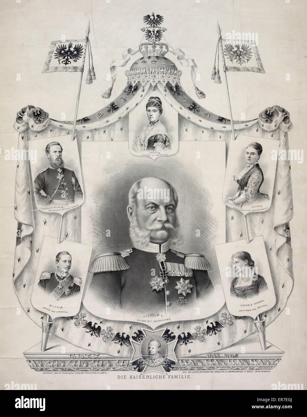 Die Kaiserliche Familie. - Stock Image